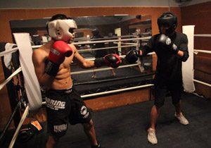 Sparring de boxe pour les débutants